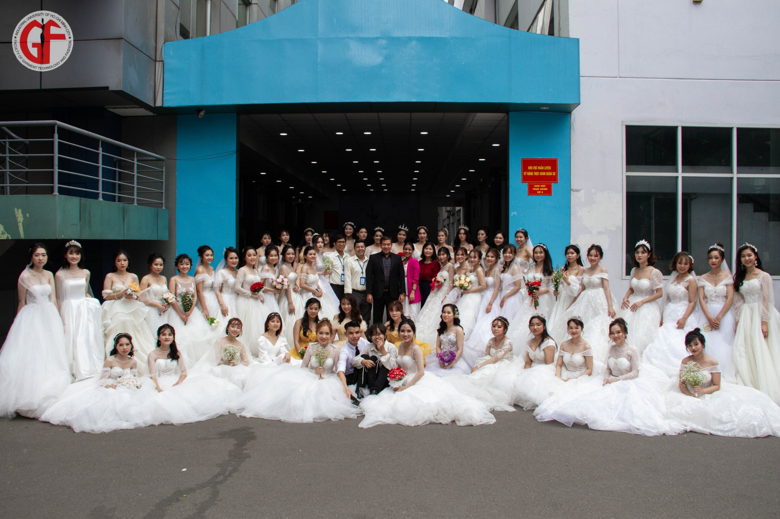 Wedding dress made by garment technical student