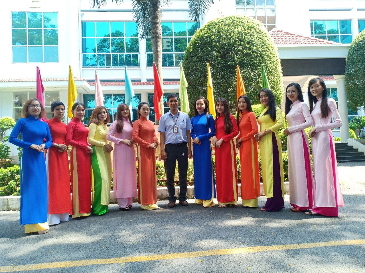 Ao dai made by student